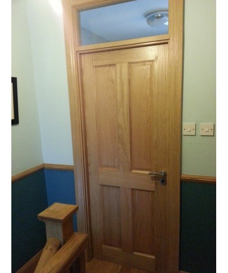 Deanta NM4 Oak 4 Panel Door