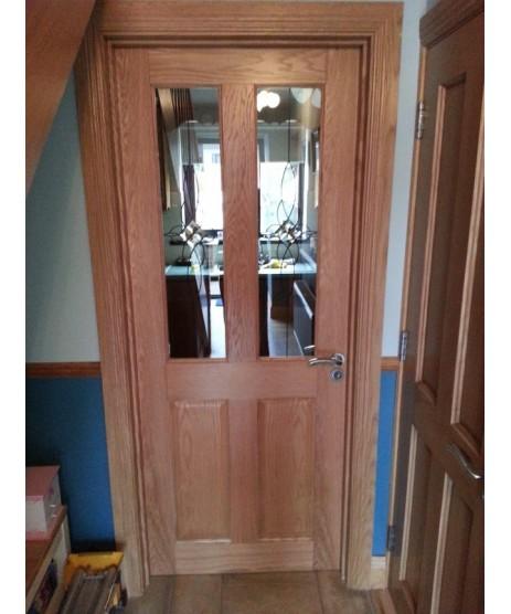 Deanta NM4G Oak 4 Panel Door (unglazed)
