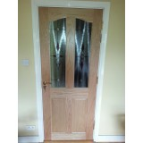 Longford 2 panel Oak Door (unglazed)