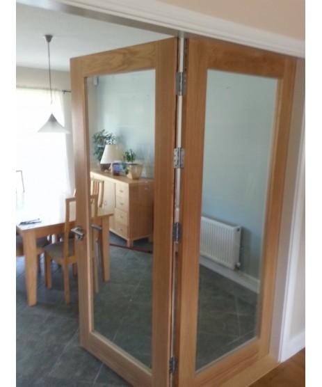 Cheshire Oak Clear Glass Door