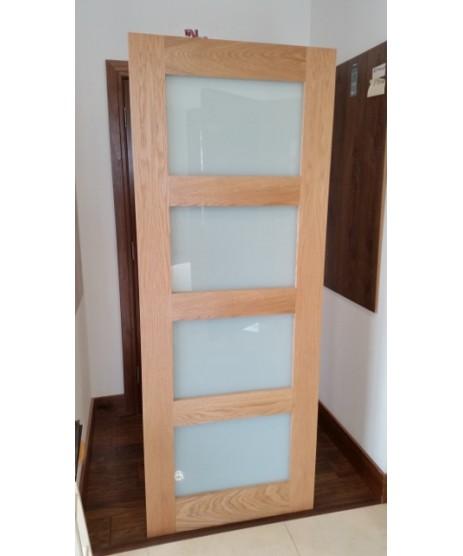 Deanta HP1G Oak Door Frosted Glass