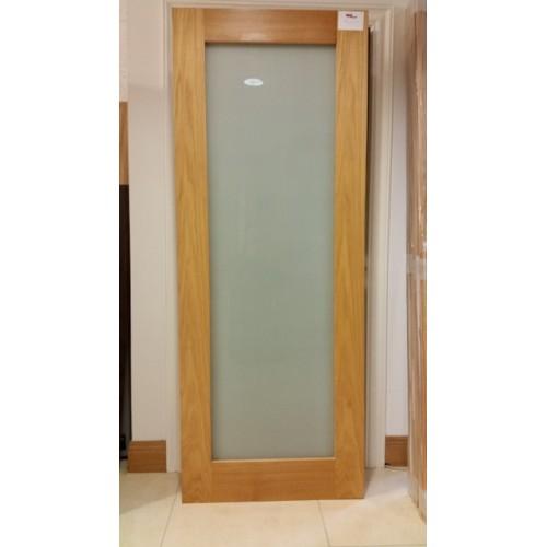 Deanta Nm6g Oak Shaker Frosted Glass Door