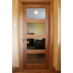 Seadec Columbus Oak Clear Glazed Door