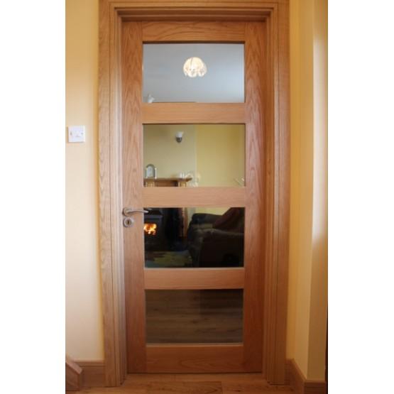 Seadec Columbus Oak Clear Glazed Door