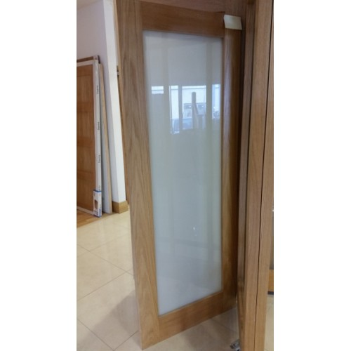 Deanta Nm6g Oak Shaker Frosted Glass Door