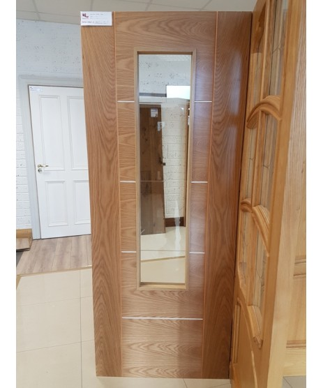Deanta HP33 Oak Fire Door FD30 as Standard