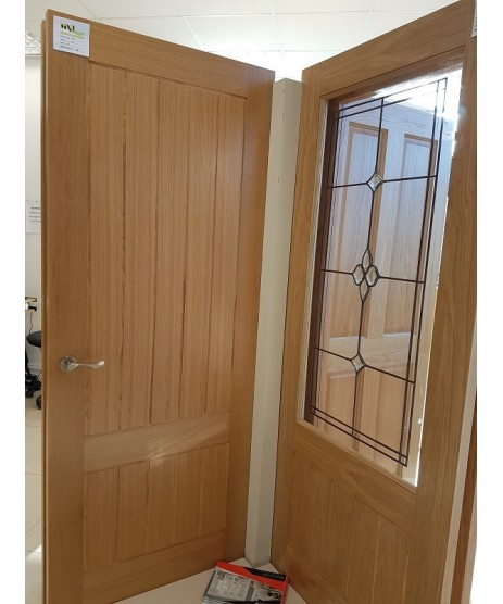 Deanta HP38G Unglazed Oak Door
