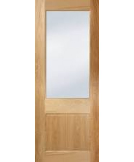 Seadec Albany Oak Door (Frosted Glass)