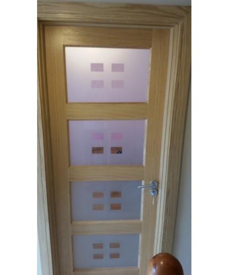 Doras Bali Glass Oak Door