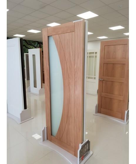 Deanta HP35G Oak Frosted Glass Door