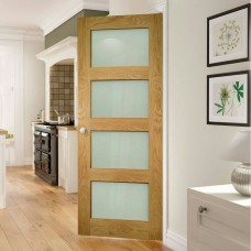 Deanta HP1G Oak Door Frosted Glass