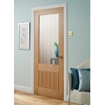 Doras Mexicana 1lite oak glass door