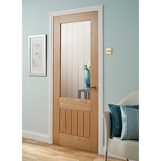 Doras Mexicana 1lite oak glass door