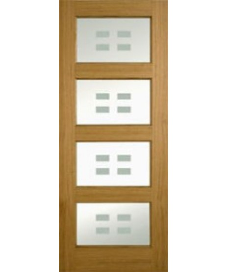 Doras Bali Glass Oak Door