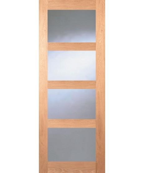 Seadec Columbus Oak Glazed Door
