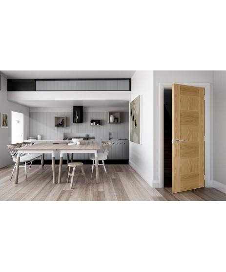 Deanta HP32 Oak Fire Door FD30 as Standard