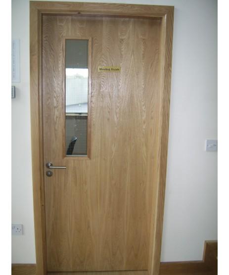 Oak Flush Fire Door 30 Minute Vicaima FD30