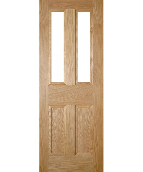 Deanta NM1G Unglazed Oak Door