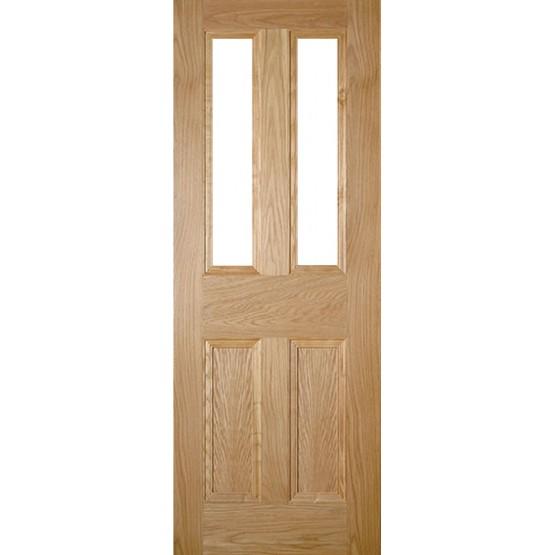 Deanta NM1G Unglazed Oak Door