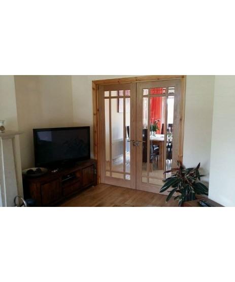 Deanta NM5G Oak Door (glazed)