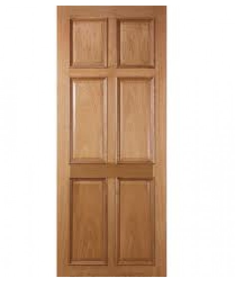 Deanta VR8 Oak Door, 6 Panel