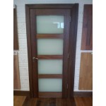 Deanta HP1G Frosted Walnut Door