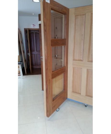 Doras Proma 3203 Walnut Glazed Door