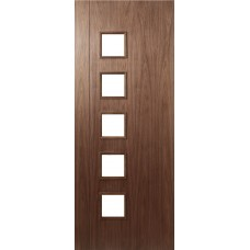 Deanta HP19G Walnut Fire Door FD30 (unglazed)