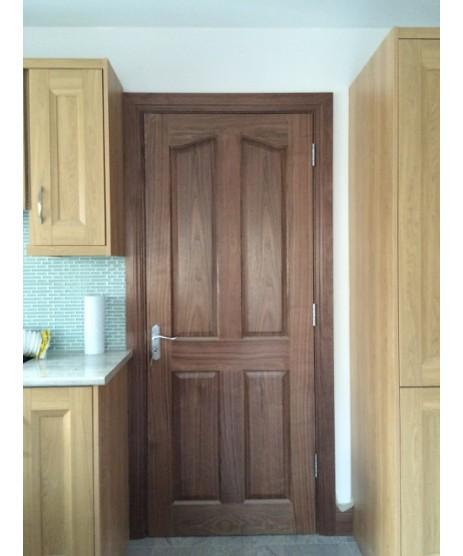 Seadec Belfast Walnut Door, Curve Top