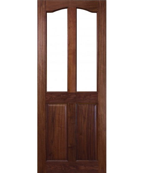 Longford Walnut Door, Curve Top (Unglazed)