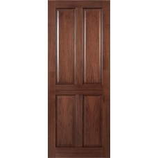 Deanta NM4 Walnut Door, 4 Panel