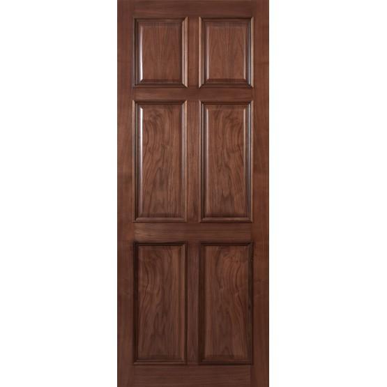 Deanta VR8 Walnut Door, 6 Panel