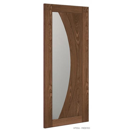 Deanta HP35G Clear Glass Walnut Door