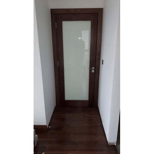 Cheshire Shaker Walnut Frosted Glass