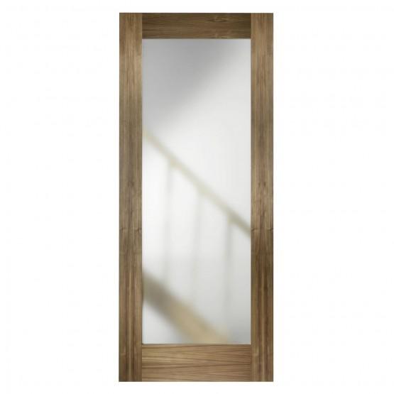 Walnut Frosted Glass Door