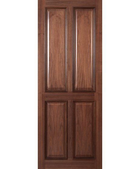 Deanta VR1 Walnut 4 Panel Door