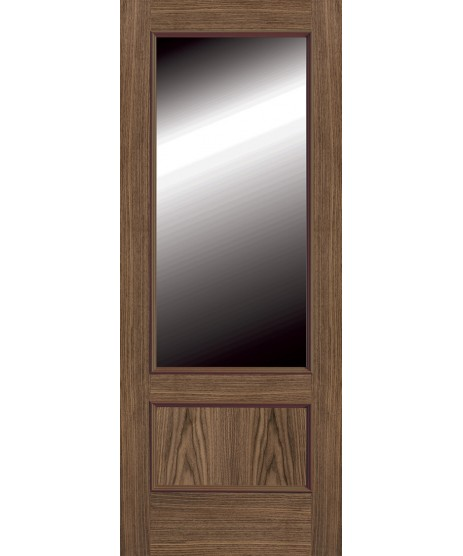 Doras Walnut proma 214 Glazed Door