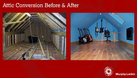 Attic Conversion - before and after